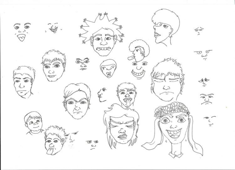 Faces Doodles sized
